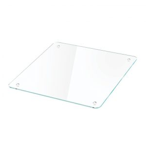 Moree Cube Glass Top 40x40cm Square Table Glass Top Rounded Corners